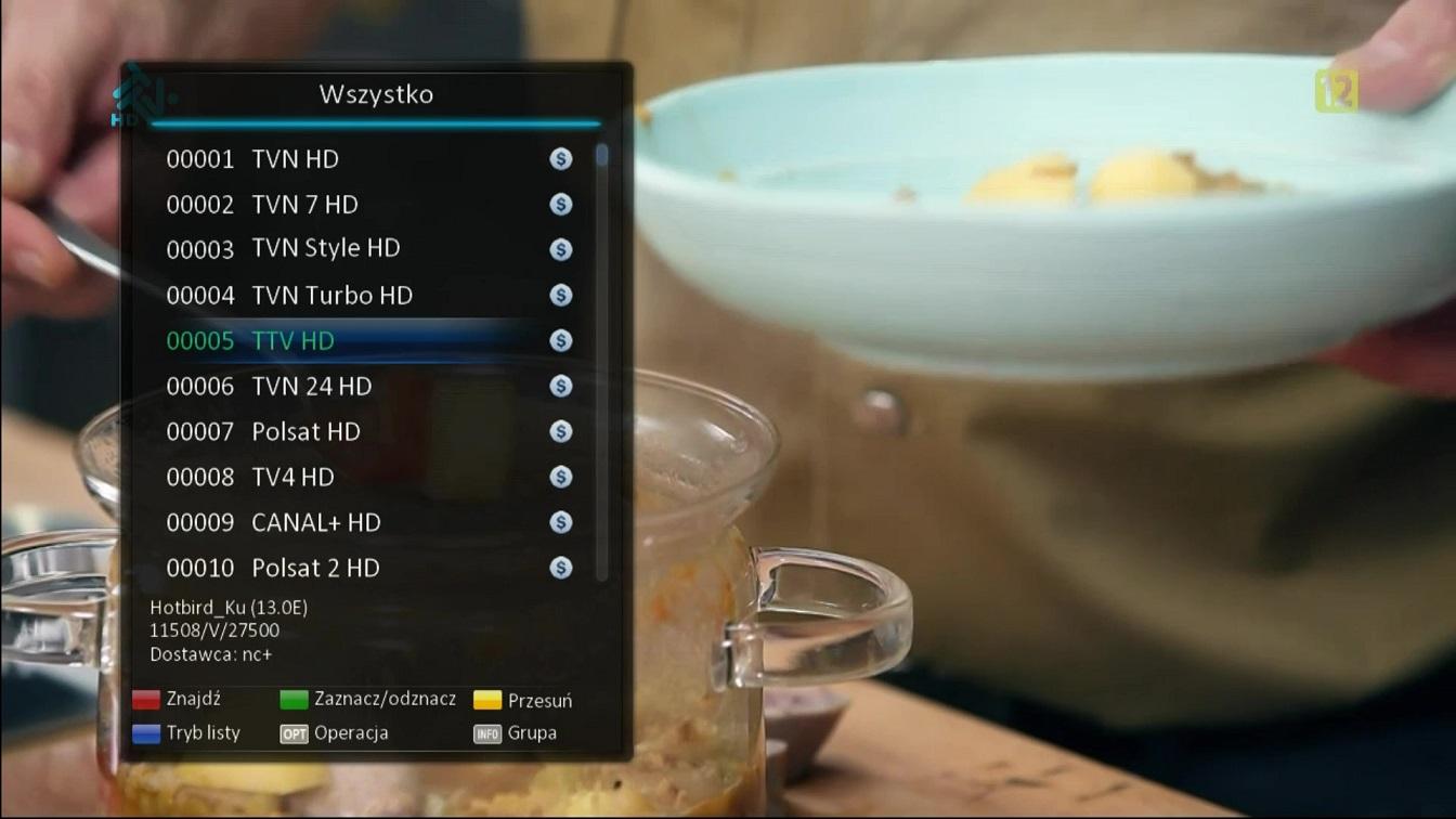 uclan denys dekoder multistream wygląd menu