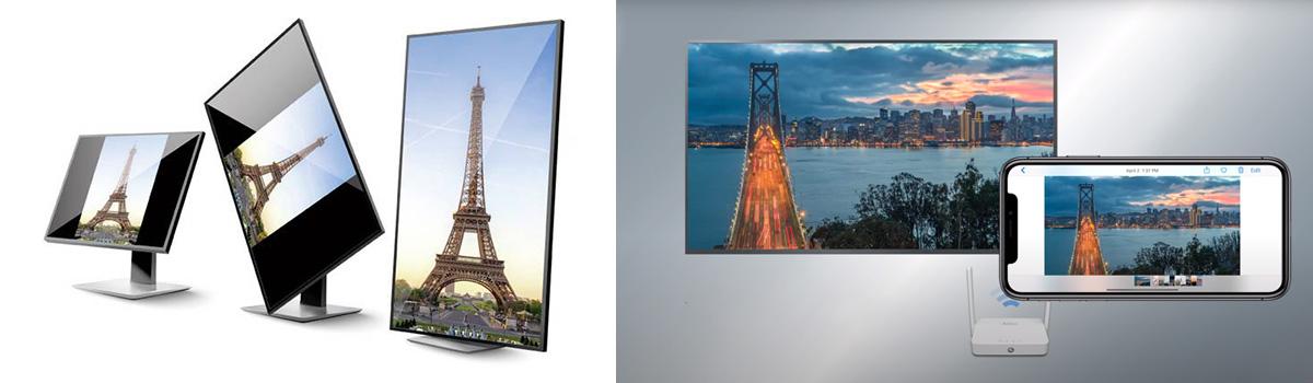 Wyświetlanie obrazu pionowo i horyzontalnie