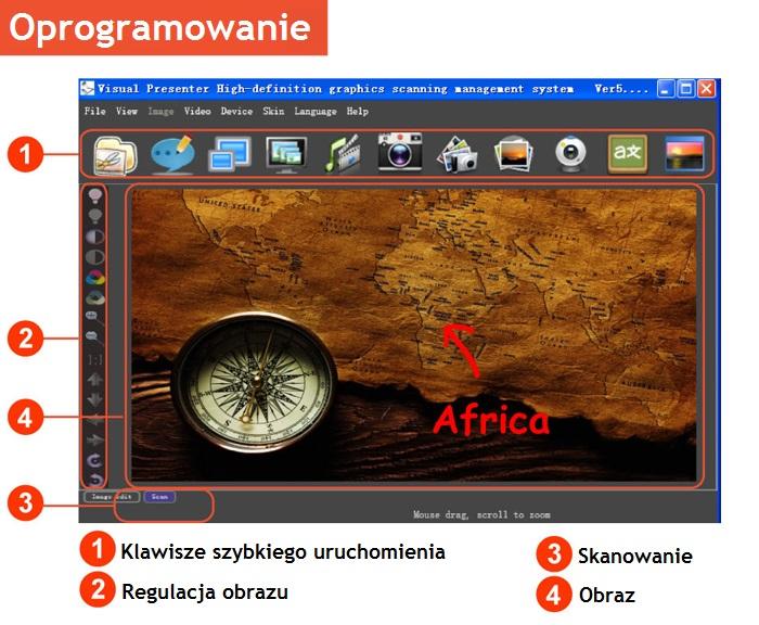 oprogramowanie skanera prezentacyjnego