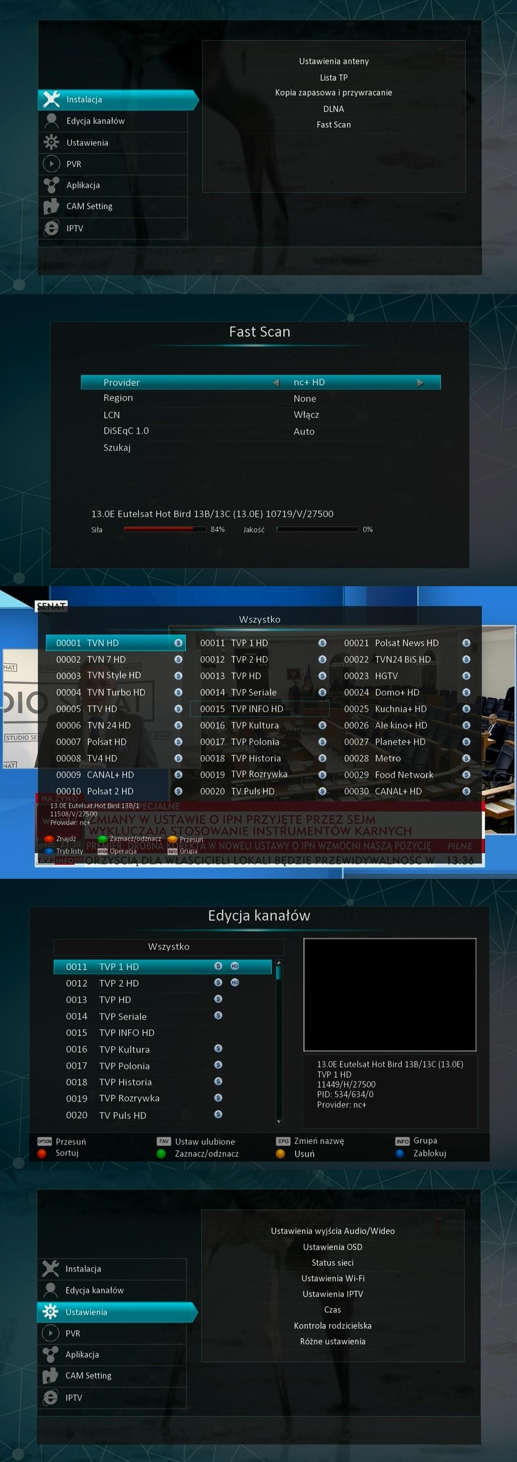 Dekoder Golden Media Alpha X zrzuty ekrany