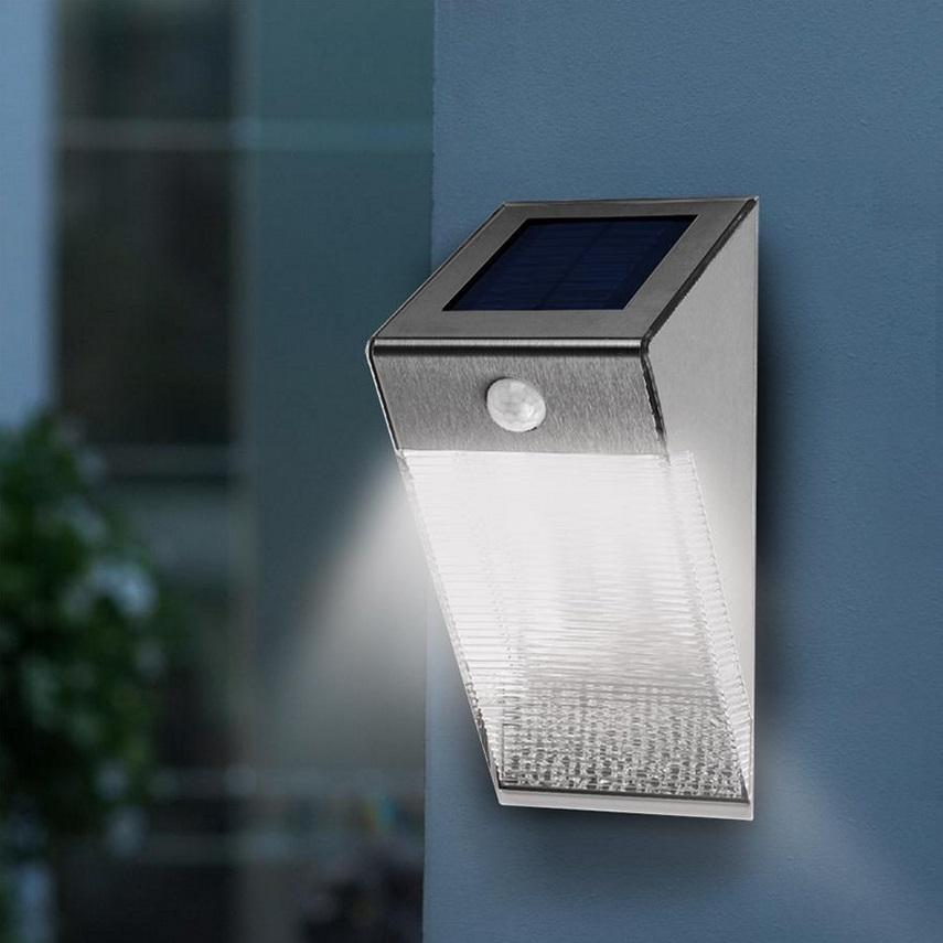 Lampa Solarna ścienna 4 Smd Maclean Energy Z Czujnikiem