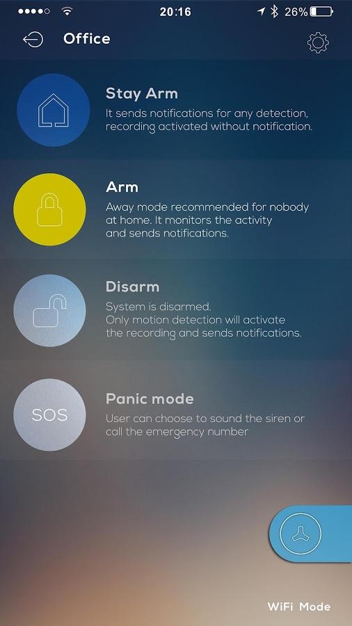 system alarmowy Maxkin - zdjęcia aplikacji