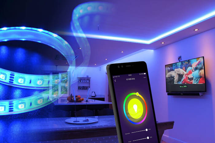 Taśma LED smartfon aplikacja smart life wifi