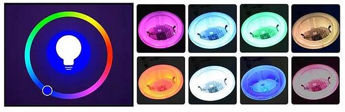 LED podświetlenie gniazdko elektryczne