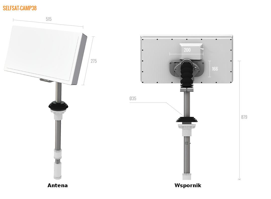 Selfsat Camp antena panelowa kampingowa