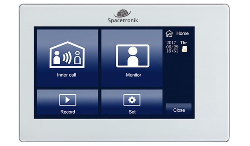 Monitor do wideodomofonu Spacetronik SPD-M772TW z dotykowym wyświetlaczem